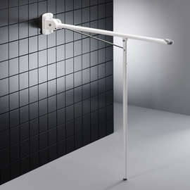 Pressalit Wall Mounted Folding Support Rail with Leg