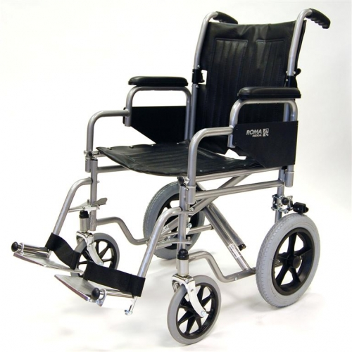 Transit Wheelschair with Detachable Arm Rests