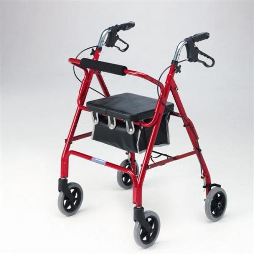 Lightweight Rollator with 6 inch wheels
