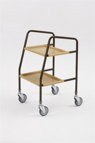 Height Adjustable Trolley with Plastic Trays