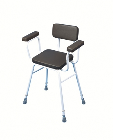 Perching/Kitchen Stool with Padded Back