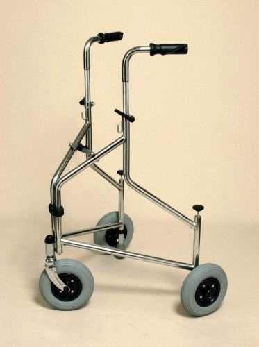 Folding 3 Wheel Walker with Pushdown Brakes