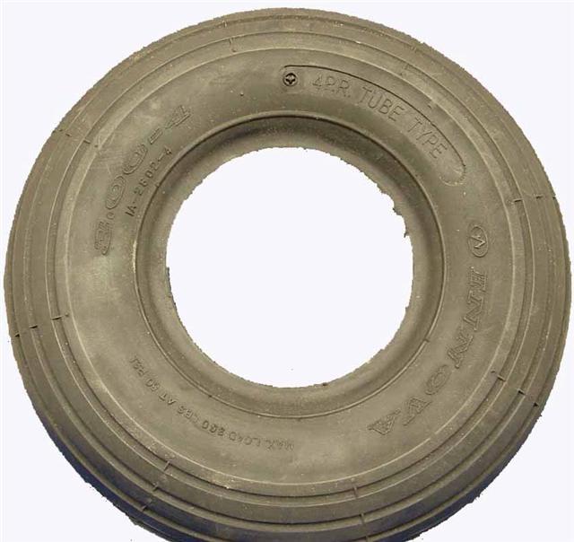 260 x 85 (300 x 4) (10 x 3) C/S Black Rib Tyre