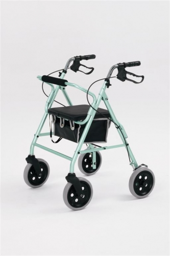Lightweight Rollator with 8 inch wheels