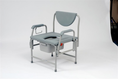 Heavy Duty Commode with drop Arms