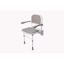 Folding Shower Seat (with Legs, Back & Arms & Padded Seat)