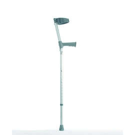 Single Adjustable Crutches With Plastic Handle - Pair