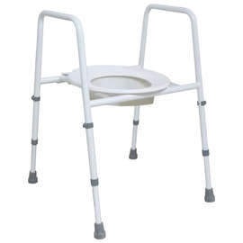 Height Adjustable Toilet Frame with Seat