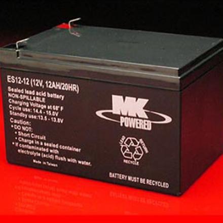 1 Pair MK SLA 12 Volt 12Amp/Hour Batteries