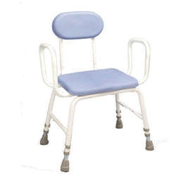 PU Moulded Perching Stool (Extra Low: Arms + Padded Back)
