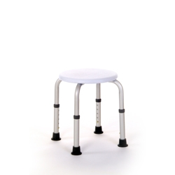Height Adjustable Round Shower Stool