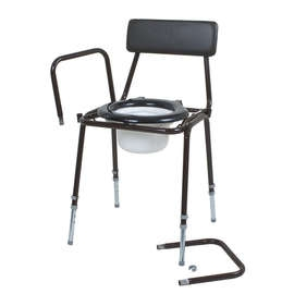 Dovedale Adjustable Height and Detachable Arms Commode