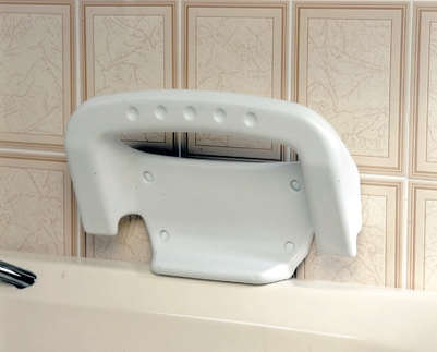 Bath Bench with Wall Fitted Grab Bar