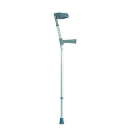 Double Adjustable Crutches With Plastic Handle - Pair