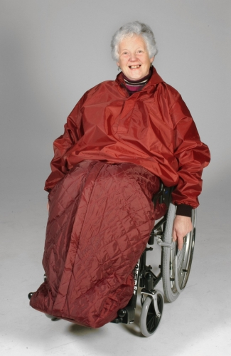Wheelchair Cape with Sleeves