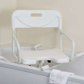 Width Adjustable Aluminium Swivelling Bath Seat