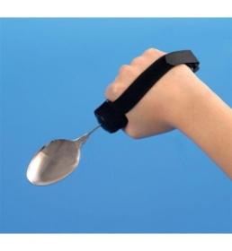 Utensil Strap for Bendable Fork or Spoon and Rocker Knife