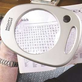 Floor Standing Magnifier With 12 LED Lights