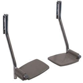 Optional Footrests for Portable Shower Commode Chair - Pair