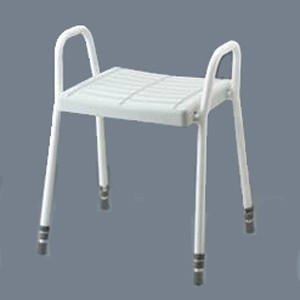 Aluminium Shower Stool with Tubular Arms