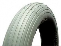 410/350 x 4 C/S Grey Rib Tyre