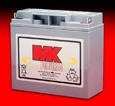 1 Pair MK SLA 12 Volt 20 Amp/Hour Batteries
