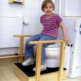 Toilet Platform With Handrails