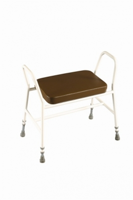 Bariatric Perching/Kitchen Stool with Tubular Arms