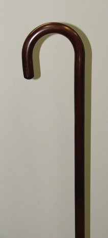 Walking Stick  Walnut Stained Laminated Crook