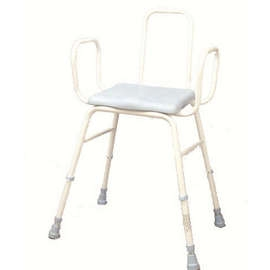 PU Moulded Perching Stool (with Arms + Back)