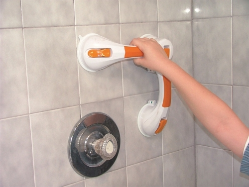 Dual Rotating Grab Bar Suction Cup with Indicator