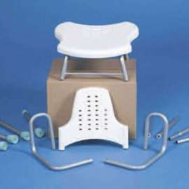 Prima Aluminium Shower Stool With Arms & Backrest