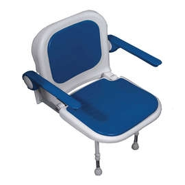 Advanced Wall Mounted Shower Seat with Padded Seat & Back