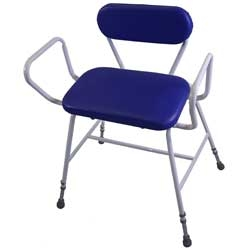 Bariatric Perching Stool with Arms and Back