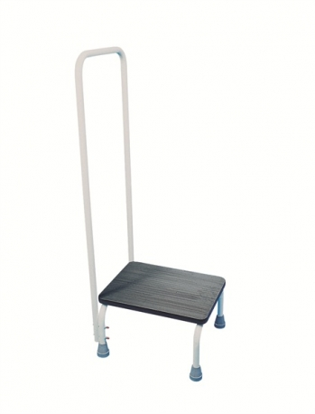 Sturdy Step Stool with Handrail