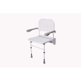 Folding Shower Seat (with Legs, Back & Arms)