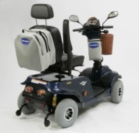 Scooter Tiller and Bags - Silver