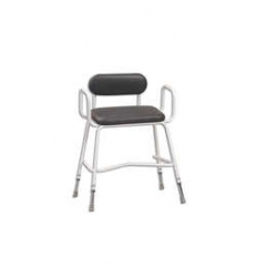 Extra Wide Perching Stool (with Arms + Padded Back)
