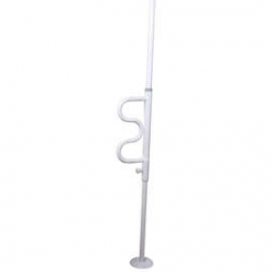 Security Pole With Curved Grab Bar